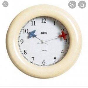 ALESSI Michael Graves bird clock cream